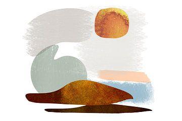 Danois 3 - Phoques sur la plage (format paysage) sur Andreas Wemmje