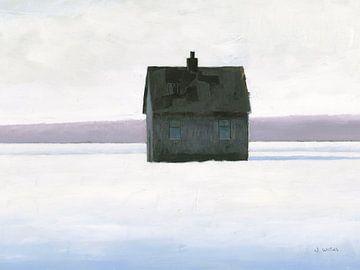 Lonely Winter Landscape II, James Wiens van Wild Apple