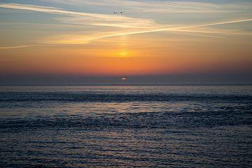 Zonsondergang Noordzee van Marnix Pro