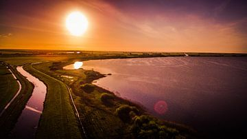 Nederlands landschap vanuit de lucht von Pureframed Photos