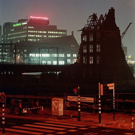Rotterdam bij nacht van Raoul Suermondt