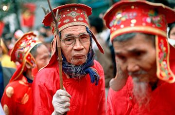 Buddhistische Zeremonie - Vietnam van Silva Wischeropp