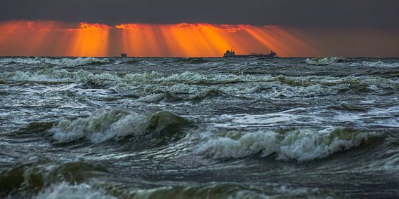 Schip aan de horizon van Dirk van Egmond