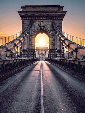 Budapest Chain Bridge van Iman Azizi
