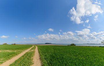 Feldweg bei Glutzow am Strelasund, Insel Rügen von GH Foto & Artdesign