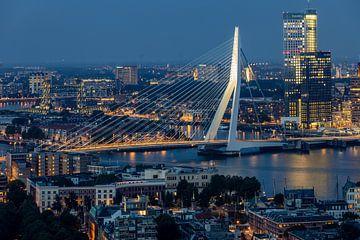 Die Erasmus-Brücke vom Euromast aus gesehen (Rotterdam). von Claudio Duarte