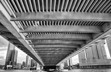 Erasmusbrug/Skyline Rotterdam van Jan Sportel Photography