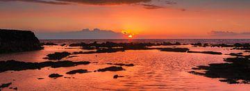 Zonsondergang The Big Island, Hawaii van Henk Meijer Photography