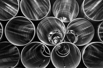 Rohre für den Transport von Erdgas von Jan Sportel Photography