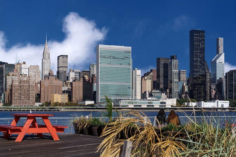 East River und Midtown Manhattan van Kurt Krause
