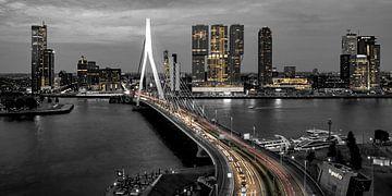 Skyline Rotterdam bei Nacht - Rotterdam Finest! von Sylvester Lobé