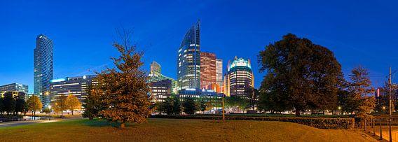 Nachtelijk Den Haag panorama