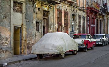 Cuba, Havana. Classic Cars van