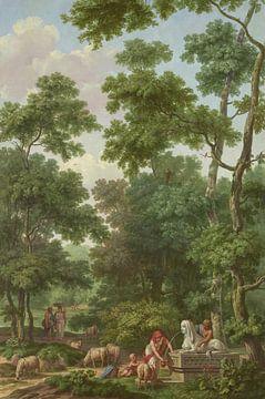 Arkadische Landschaft mit einer Sphinx, Jurria und Andriessen