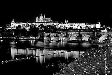 Prag bei Nacht von Frank Herrmann