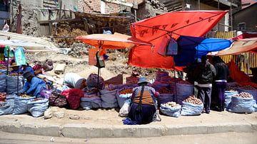 'Markt', La Paz Bolivia van Martine Joanne