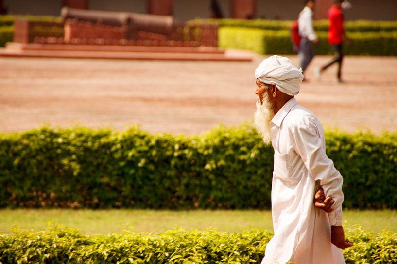 Indiër aan de wandel van Koen van der Werf