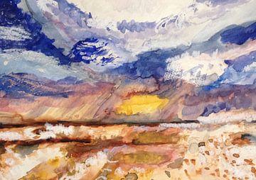 Watercolour of an Horizon von Catharina Mastenbroek