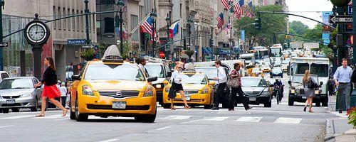straatbeeld New York City van