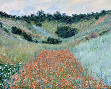 Poppy Field in a Hollow near Giverny, Claude Monet sur