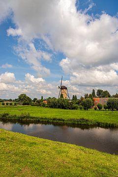 """Moulin à vent """"De Arend"""" dans le village néerlandais de Terheijden"""