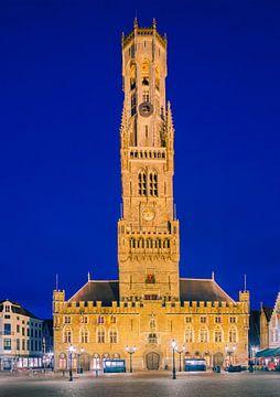 The Belfry of Bruges, Belgium. van
