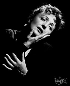 Edith Piaf 1955 van Bridgeman Images