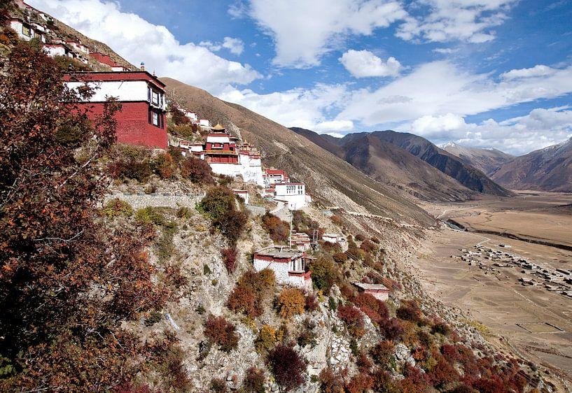 Klooster in Tibet van Jan van Reij