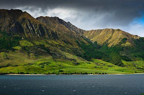 Lake Hawea - Nieuw Zeeland van