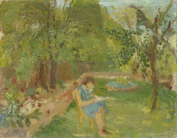 Meisje in de tuin, Walter Kurt Wiemken