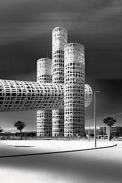 Architectuur collage van gebouw in Spanje van Marianne van der Zee