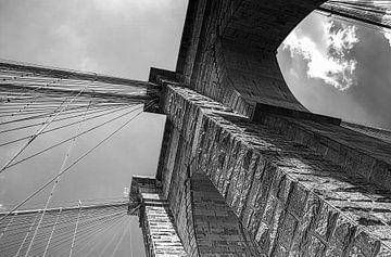 Brooklyn Bridge New York City von Nannie van der Wal