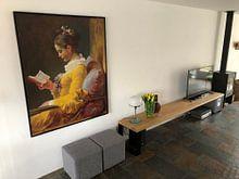 Kundenfoto: Lesende Mädchen, Jean-Honoré Fragonard, auf leinwand