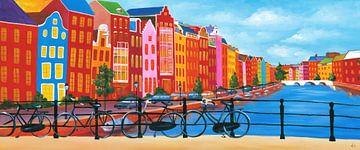 Amsterdam schilderij grachtengordel van Kunst Company