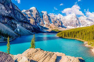 Moraine Lake so viel schöner als Lake Louise von Alexander Mol