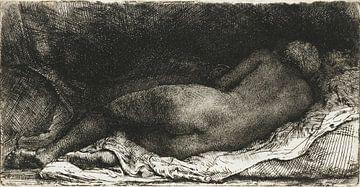 Rembrandt van Rijn, Liegender weiblicher Akt, 1658 von Atelier Liesjes