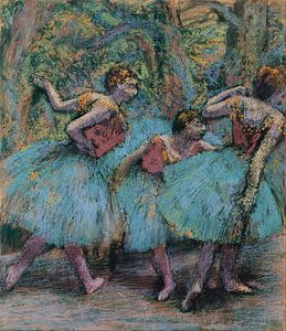 Edgar Degas. Three Dancers (Blue Tutus, Red Bodices)