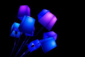GLOW festival Blauwe lampen
