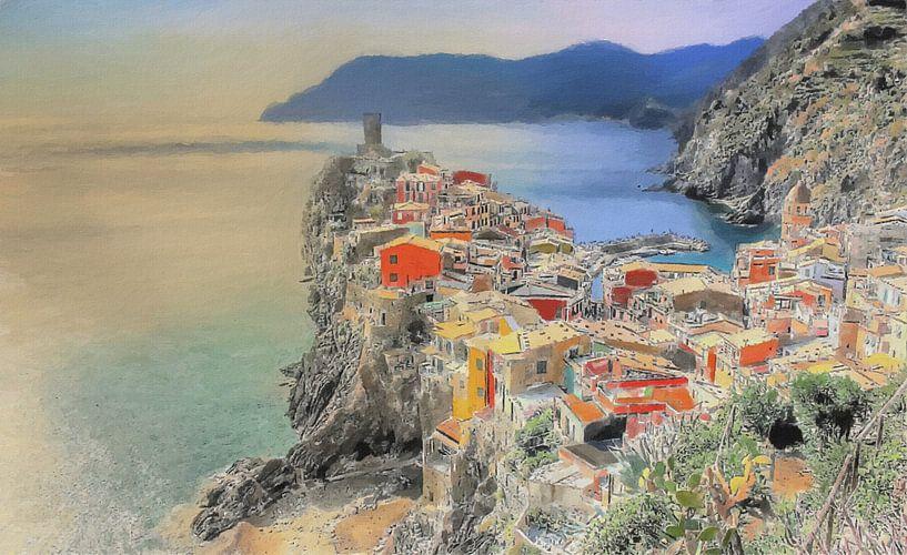 Vernazza - Cinque Terre - Italien - Malerei von Schildersatelier van der Ven