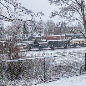 Profiter de la première neige dans le sud du Limbourg sur John Kreukniet