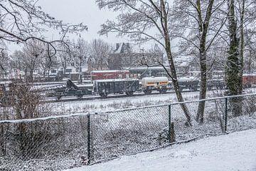 Genießen Sie den ersten Schnee in Südlimburg von John Kreukniet