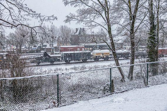 Genieten van de eerste sneeuw in Zuid-Limburg