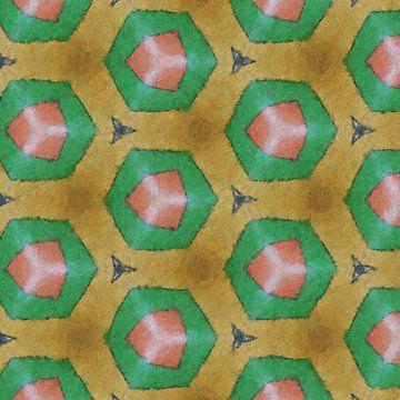 Abstract zeskanten patroon van Maurice Dawson