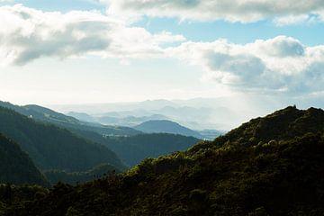 Berglandschap Azoren van Marly Tijhaar