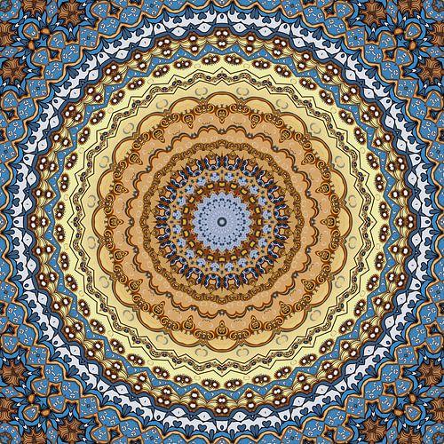 Mandala Golden October van Marion Tenbergen