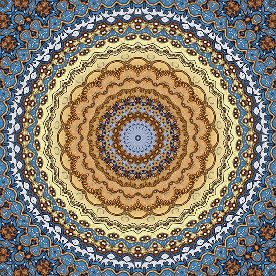 Mandala Goldener Oktober von Marion Tenbergen