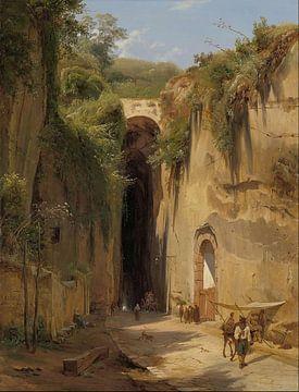 Antonius Sminck Pitloo - Die Grotte von Posillipo in Neapel