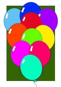Ballonnen, laat ze zien! van Ellen Voorn