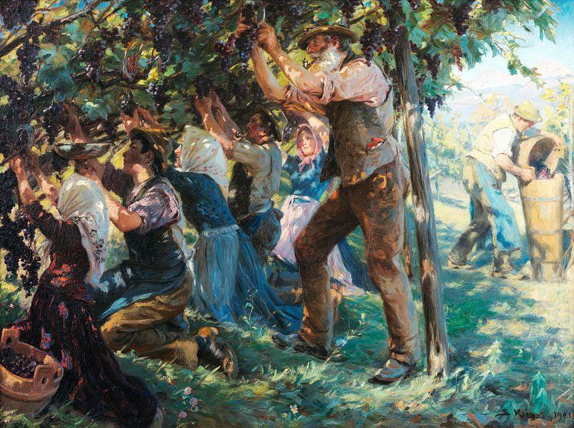 Weinlese in Tirol, Peder Severin Krøyer von Meesterlijcke Meesters