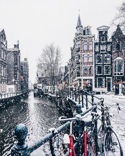 Snow in Amsterdam  van